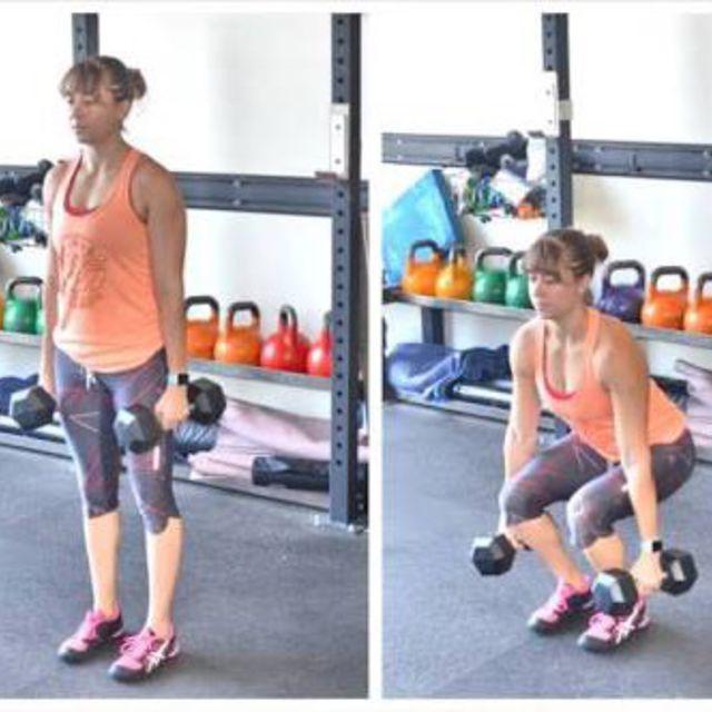 How to do: Close Stance Squat - Step 1