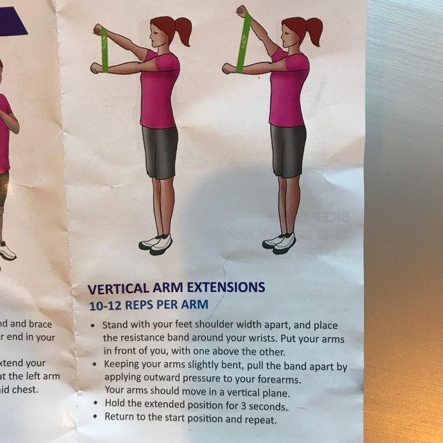 How to do: Vertical Arm Extension With Band - Step 1