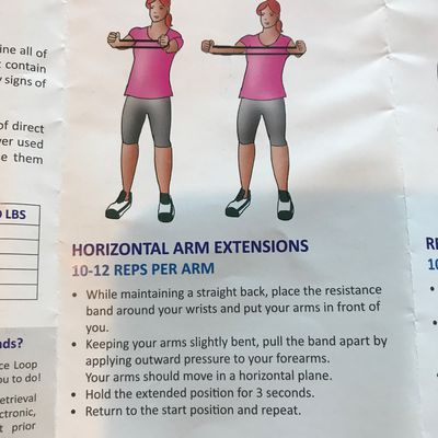 Horizontal Arm Extension With Band