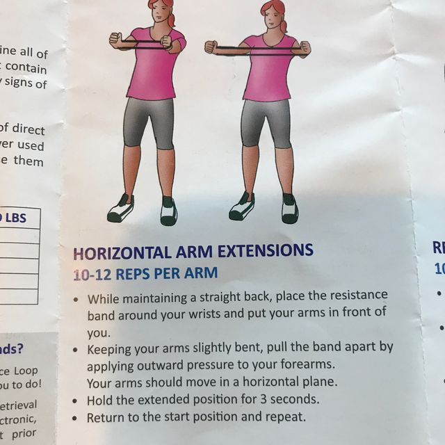 Horizontal Arm Extension With Band Exercise How To Workout