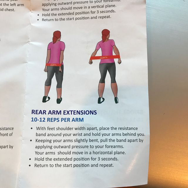 How to do: Rear Arm Extension With Band - Step 1