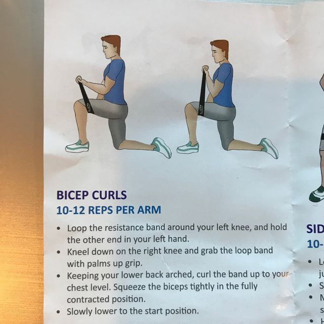 How to do: Biscep Curl With Band - Step 1