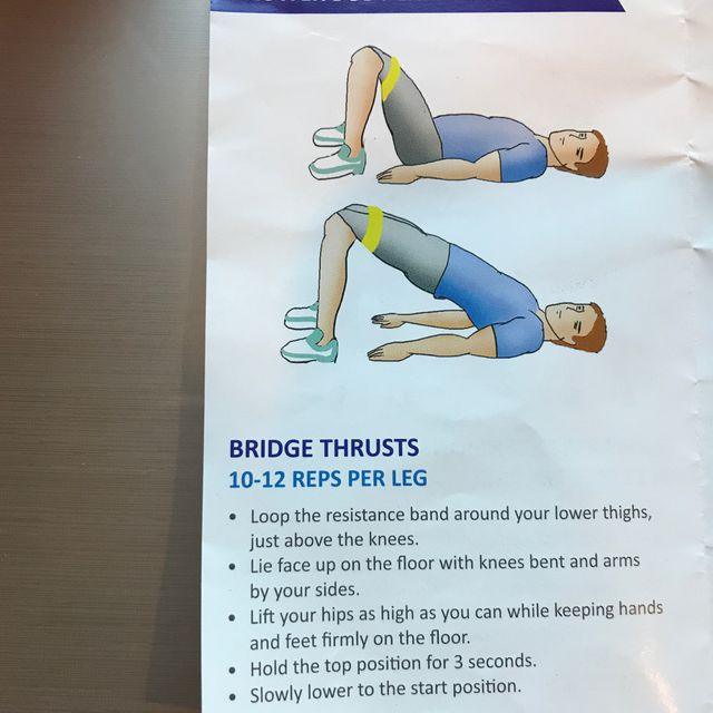 How to do: Bridge Thrust With Band - Step 1