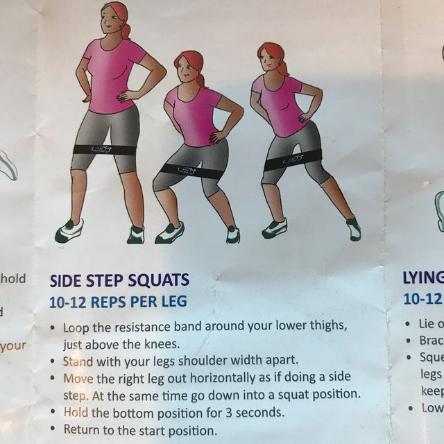 How to do: Side Step Squats With Bands - Step 1