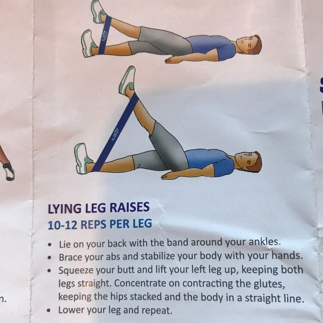 How to do: Lying Leg Raises With Band - Step 1