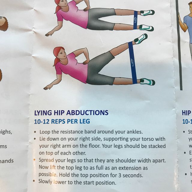 How to do: Lying Hip Abductions With Band - Step 1