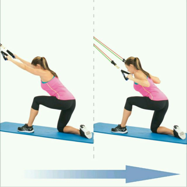 How to do: Lateral Pull Down On Bands - Step 1