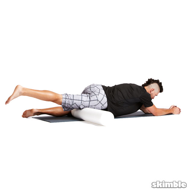 How to do: Right Leg Quad Rolls - Step 1
