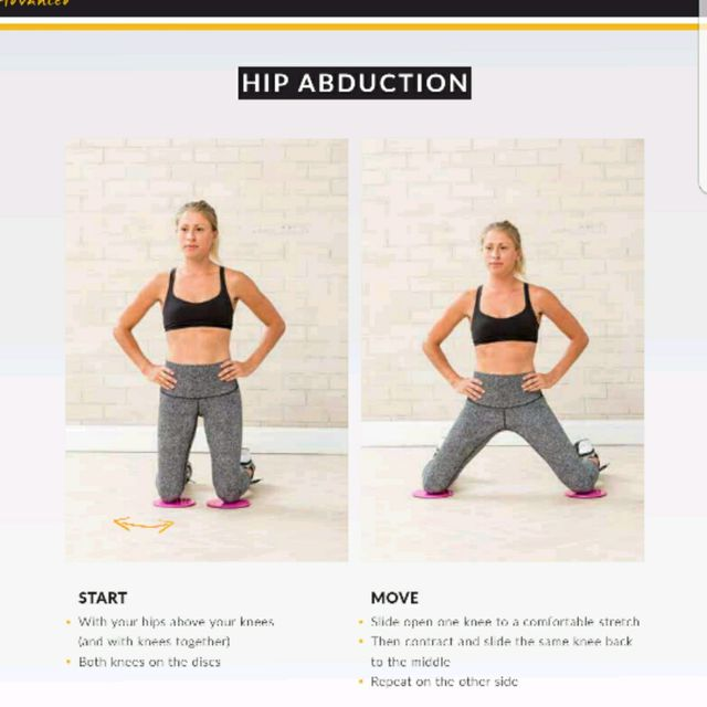 How to do: Kneeling Hip Abduction With Glide Discs - Step 1