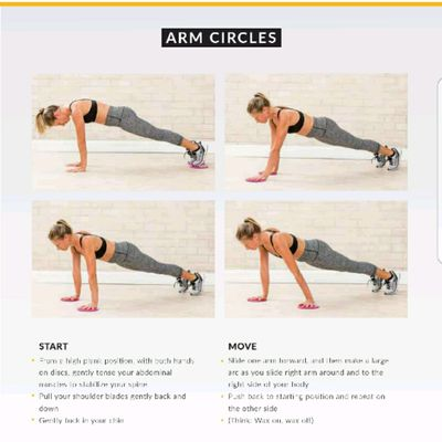 Arm Circles With Glide Discs