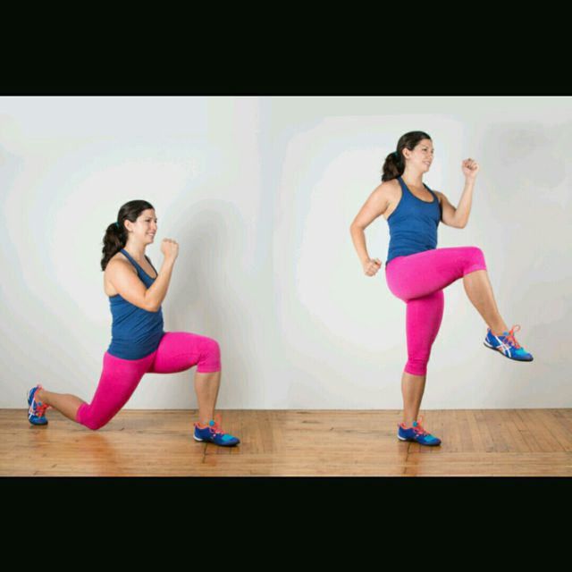 How to do: High Knee Drive To Reverse Lunge - Step 1