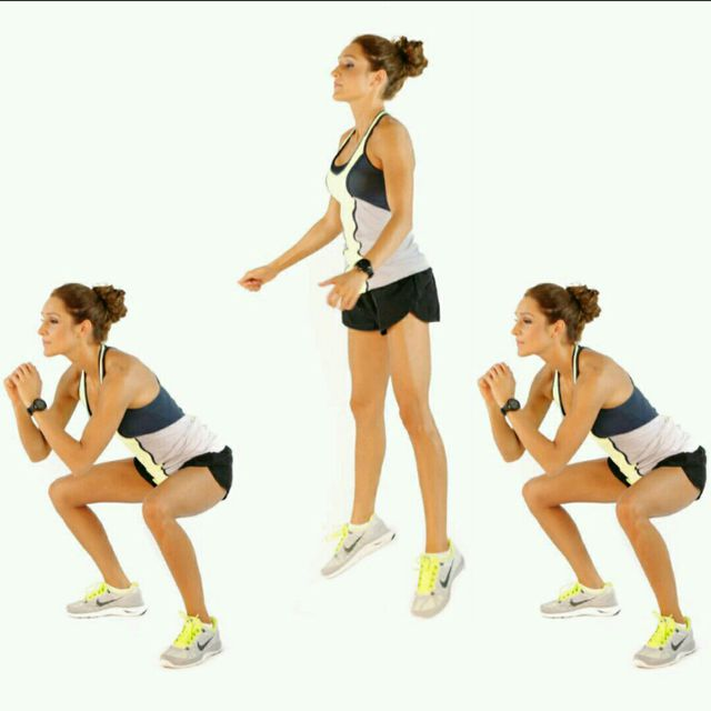 How to do: Double Pulse Jump Squat - Step 1