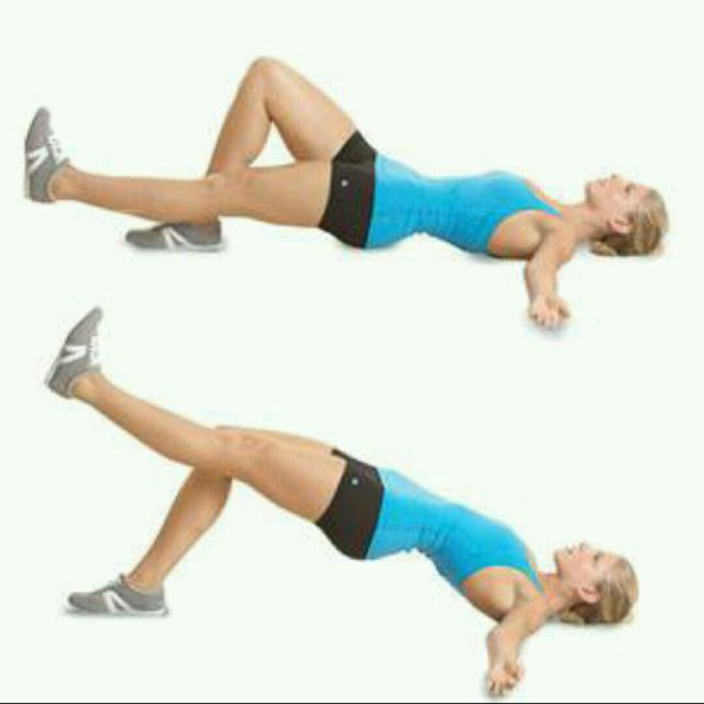 How to do: Single Leg Glute Bridge - Step 1