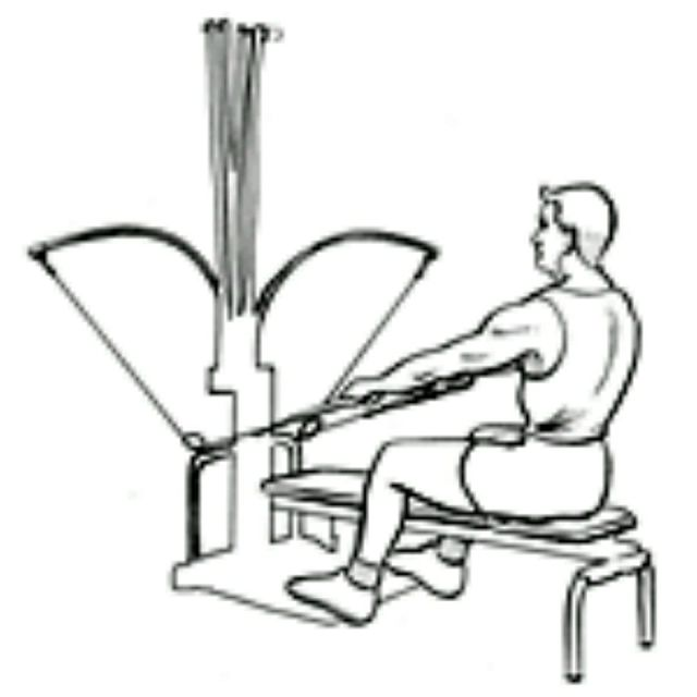 How to do: Bowflex Seated Lat - Step 1