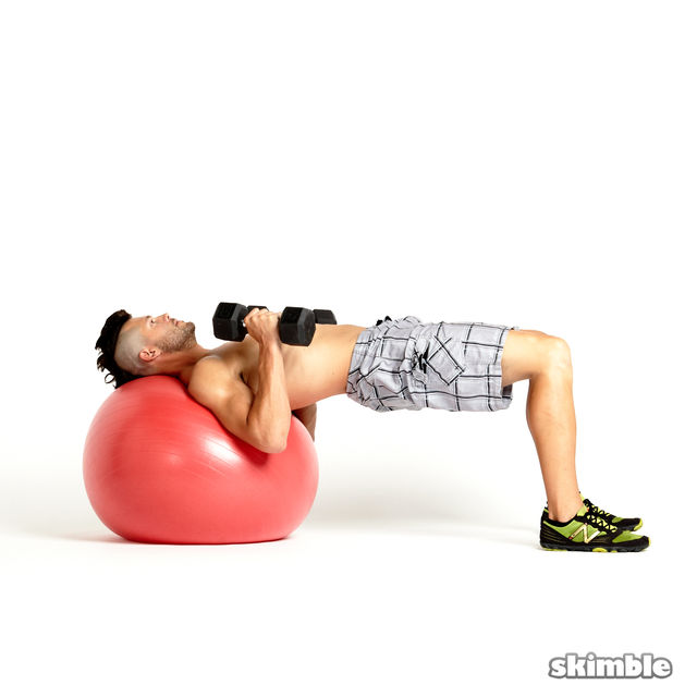 How to do: Stability Ball Chest Press - Step 4