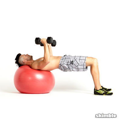 Stability Ball Chest Press