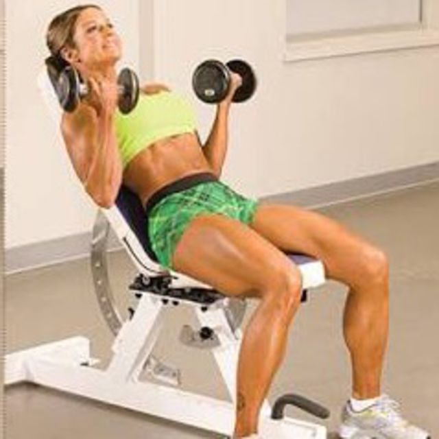 How to do: Incline Dumbbell Curl - Step 2
