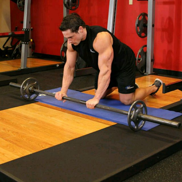 How to do: Barbell Ab Roll - Step 1