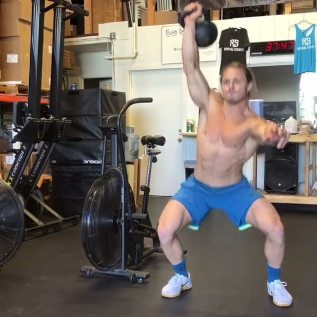 How to do: Overhead Squats - Kettlebell - Step 1