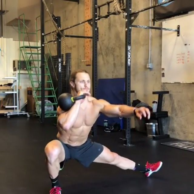 How to do: Left And Right Arm Kossack thruster - Step 1