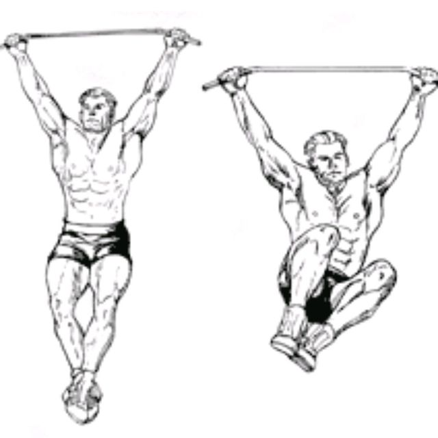 How to do: Hanging Knee-Ups Sides - Step 1