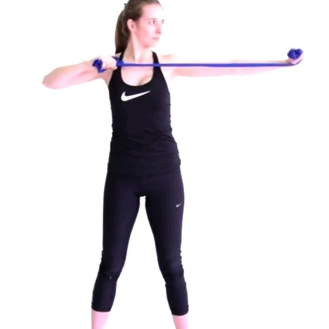 How to do: Resistance Band Archer - Step 2