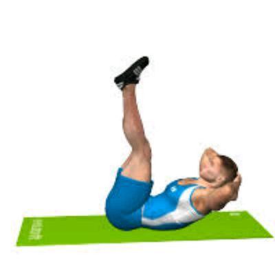 Crunch gambe tese in alto