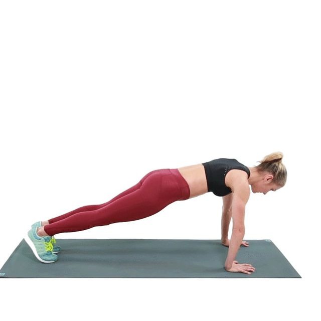 How to do: Traditional Plank - Step 2