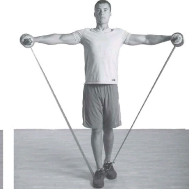 How to do: Dual Resistance Lateral Raise - Step 2