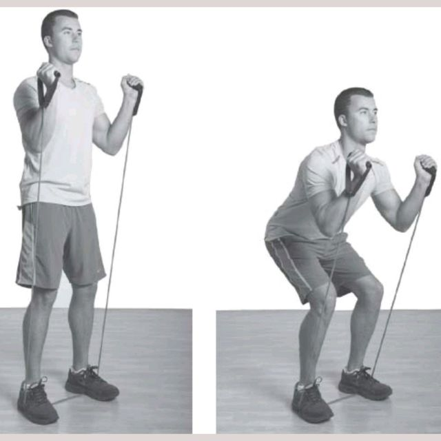How to do: Resistance Band Squat Shuffle - Step 1