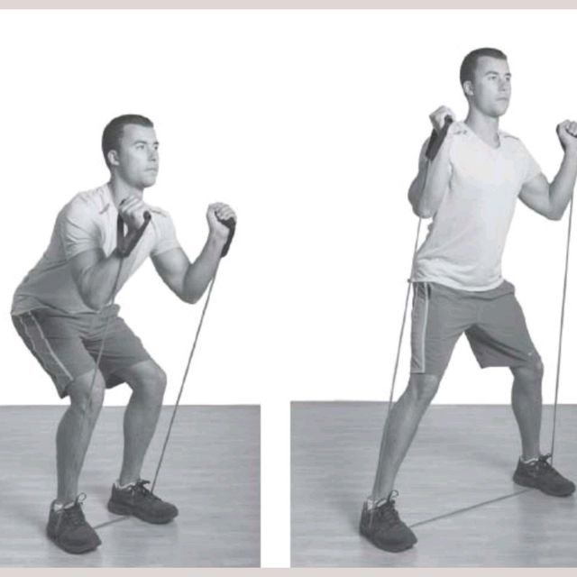 How to do: Resistance Band Squat Shuffle - Step 2