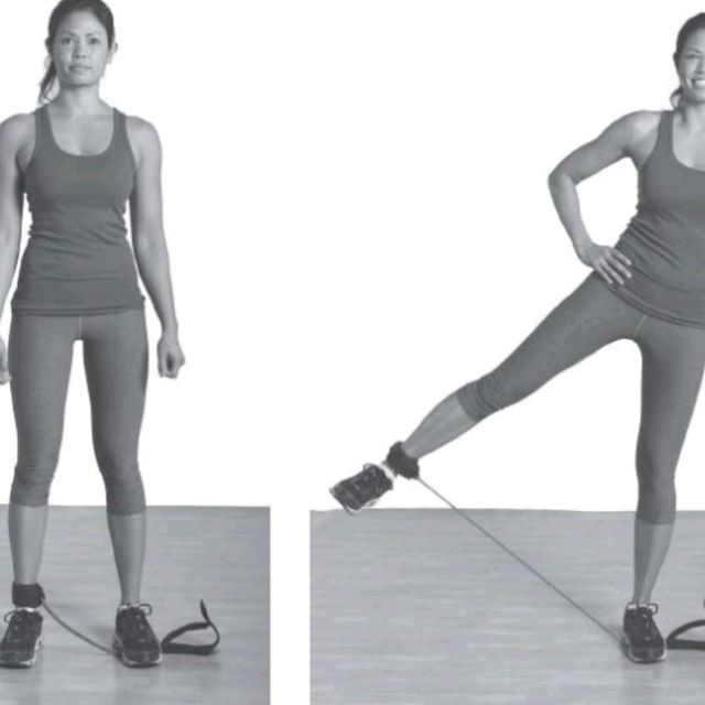 How to do: Resistance Band Leg Abduction - Step 1