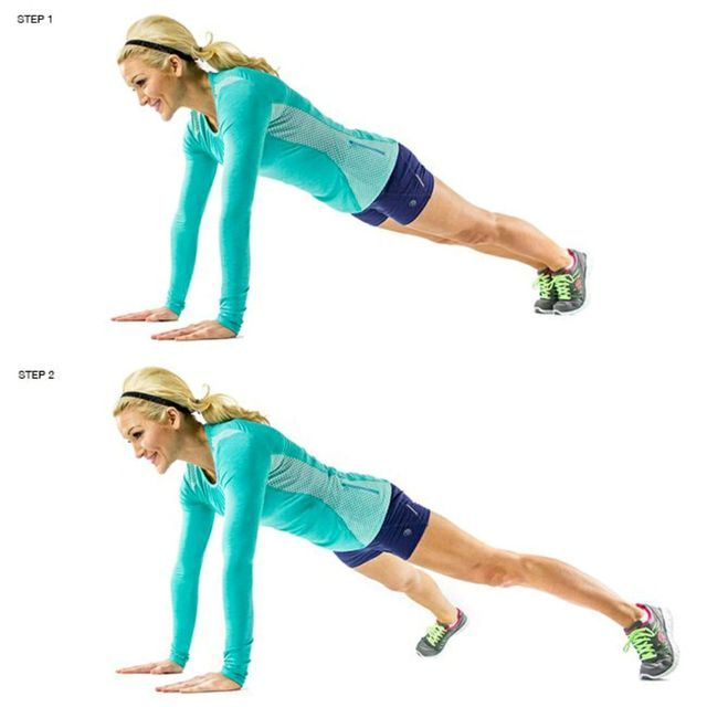 How to do: Plank Jacks - Step 1