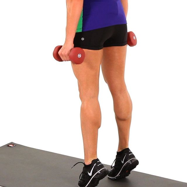 How to do: Weighted Calf Raise - Step 1