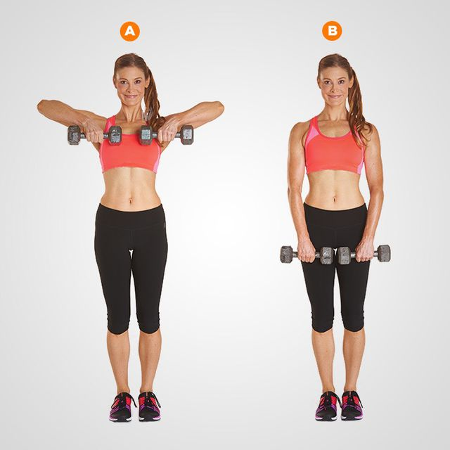 How to do: Upright Row With Dumbbell - Step 1