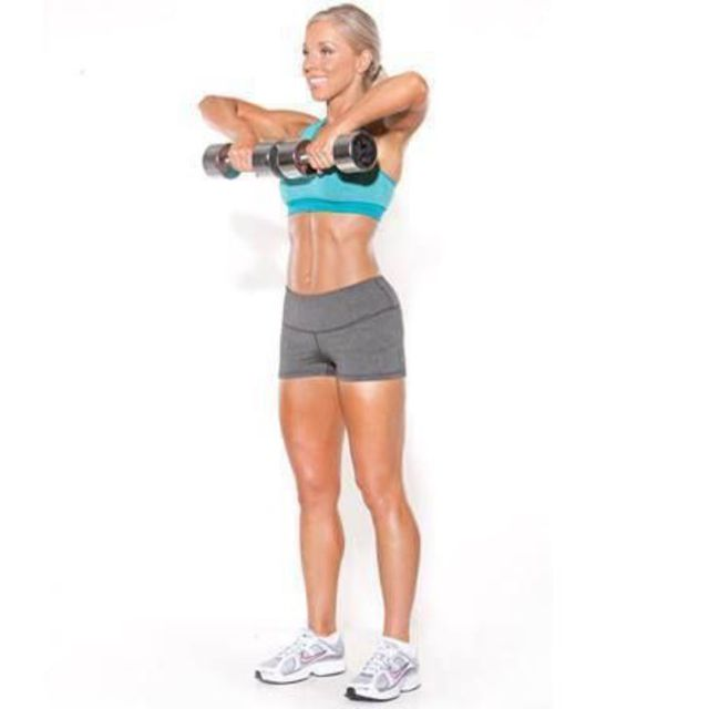 How to do: Upright Row With Dumbbell - Step 4