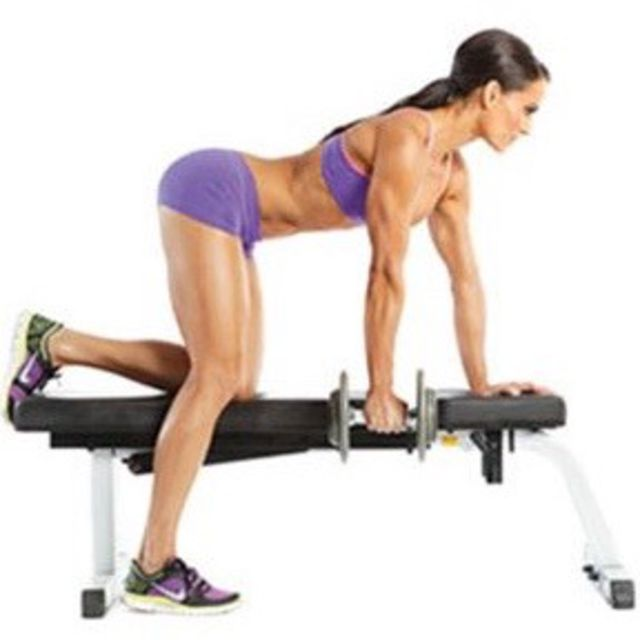 How to do: Kneeling Right Arm Rows A - Step 1