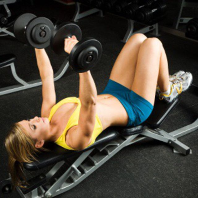 How to do: Flat Bench Dumbbell Press - Step 1