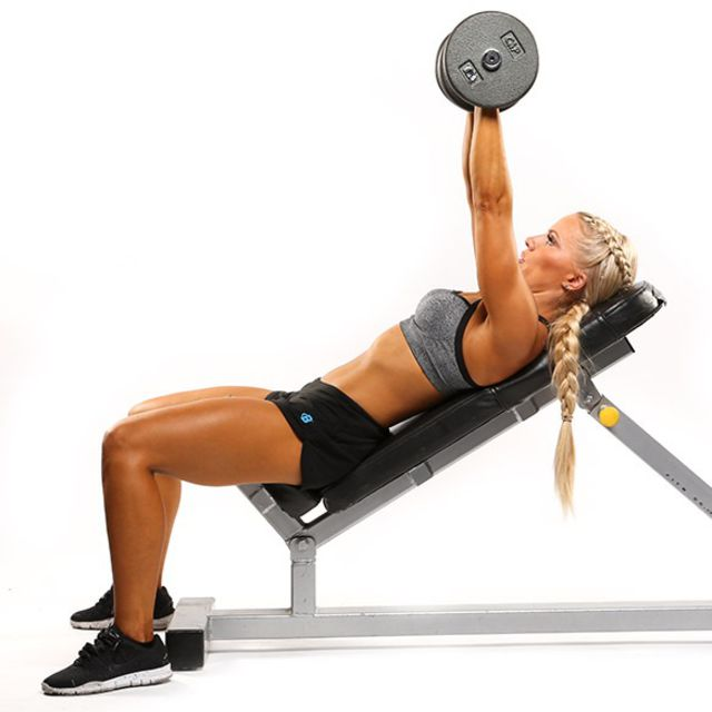How to do: Incline Bench Dumbbell Press - Step 2