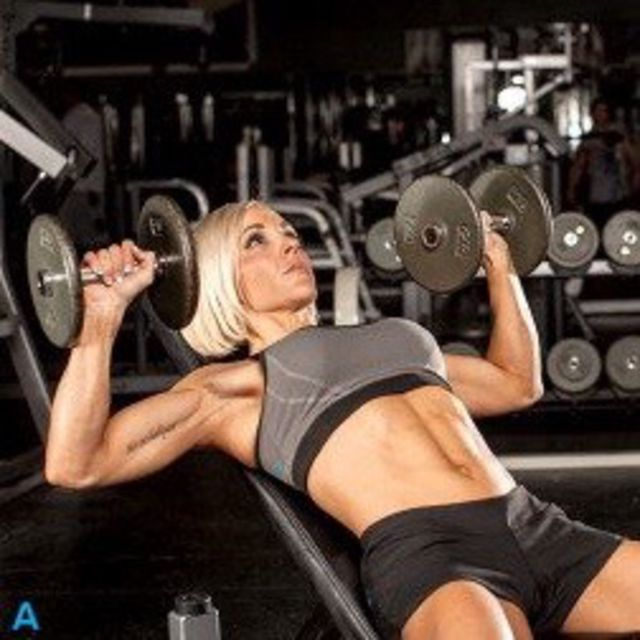 How to do: Incline Bench Dumbbell Press - Step 1
