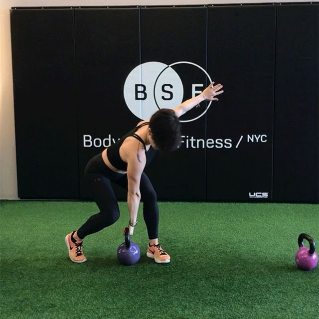 How to do: Cross-Body Kettlebell Clean - Step 1