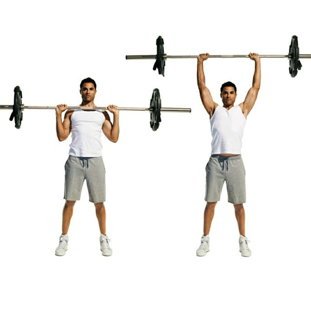 Dumbell Military Press The Dumbell Military Press Is A: Back Thickness / Capped Shoulders