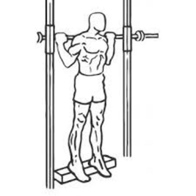 How to do: Standing Barbell Reverse Calf Raises - Step 1