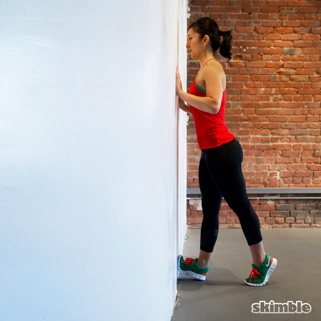 How to do: Wall Calf Stretches - Step 2