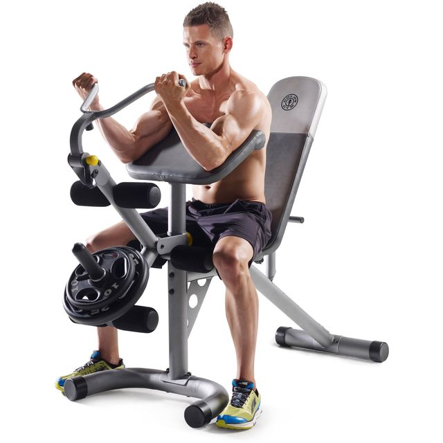 How to do: Seated Preacher Curls - Step 1