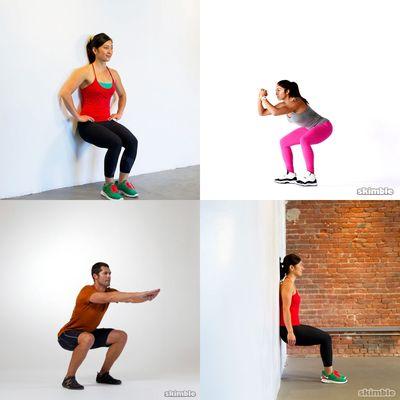5 Min Wall Sit