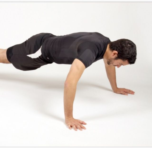 How to do: Wide-Armed Push Up - Step 1