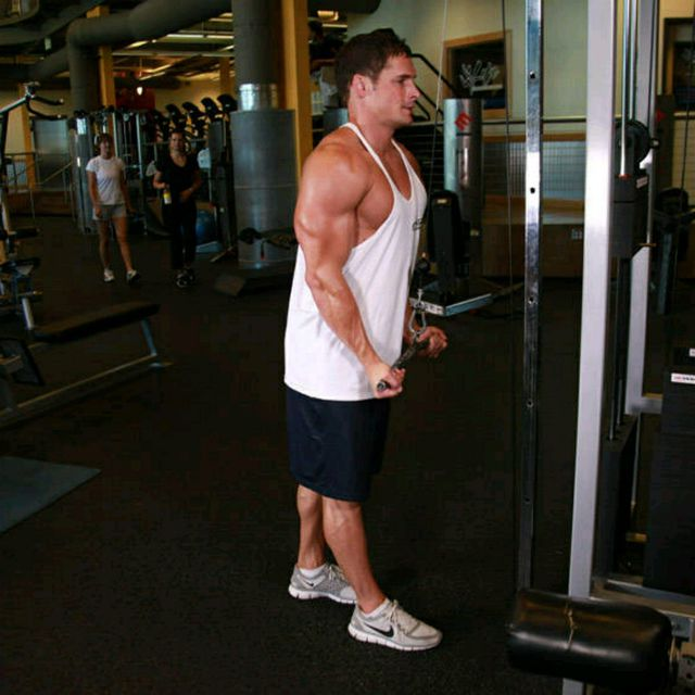 How to do: Reverse Grip Tricep Pushdown - Step 2