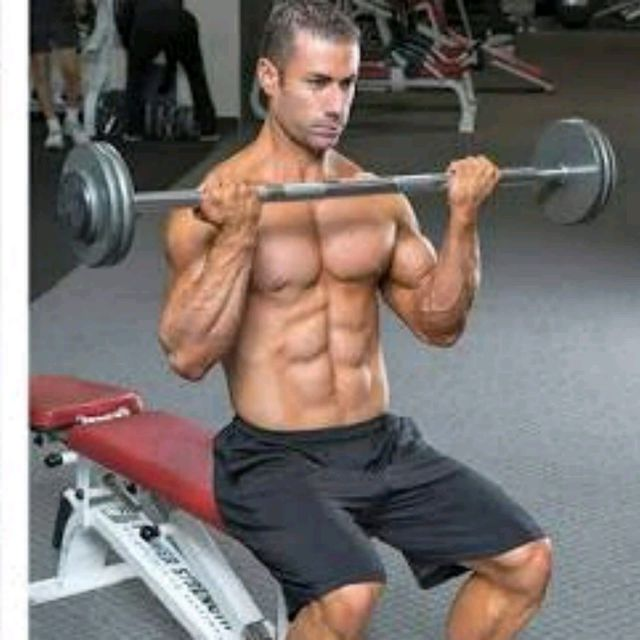 How to do: Seated Barbell Curl - Step 2