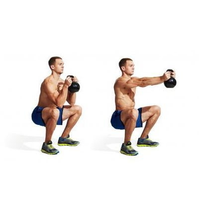 Kettlebell Press Out
